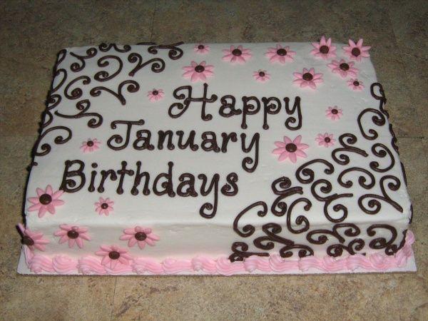 Astounding January Birthdays Cake Birthday Sheet Cakes Sheet Cake Cake Birthday Cards Printable Benkemecafe Filternl
