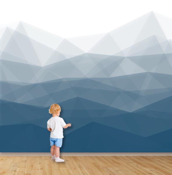 Modern Mountain Wall Mural (SelfAdhesive) Rocky