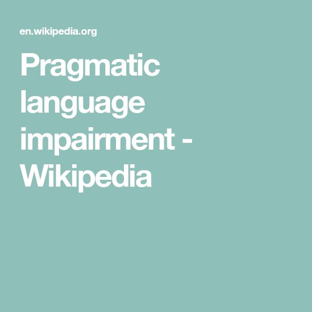 Wikipedia Pragmatic