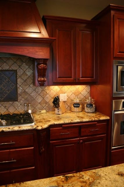 Small Kitchen Design With Cherry Wood Cabinets  Cherry Wood Cool Cherrywood Kitchen Designs Review