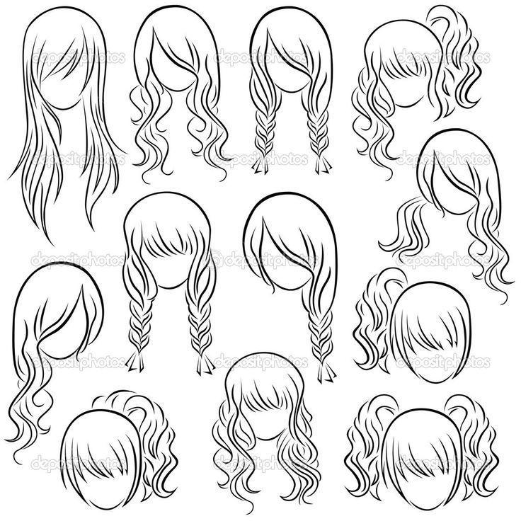 54a9c216277168c50c63aa08c5c20316 Jpg 736 736 Dibujos De Peinados Dibujo De Pelo Dibujos De Cabello De Mujer