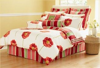 Red+bedding | Zzz Red Poppy Comforter Set   Nygard Home Bedding