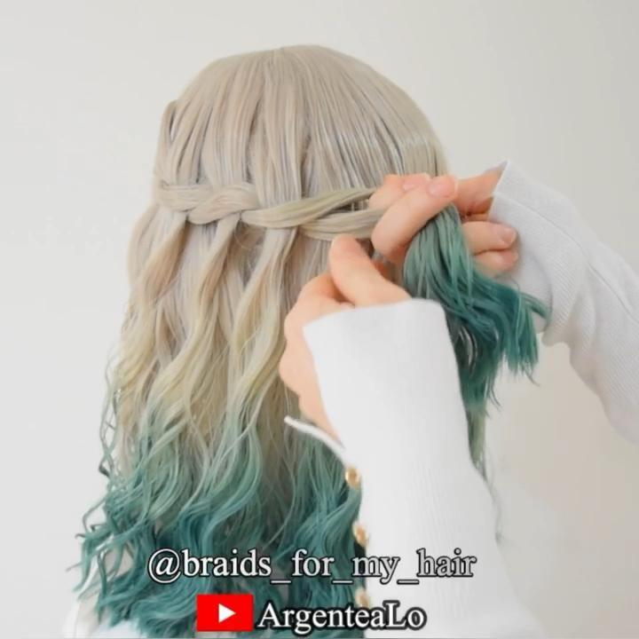 Twist Waterfall Braid Hairstyle 💚