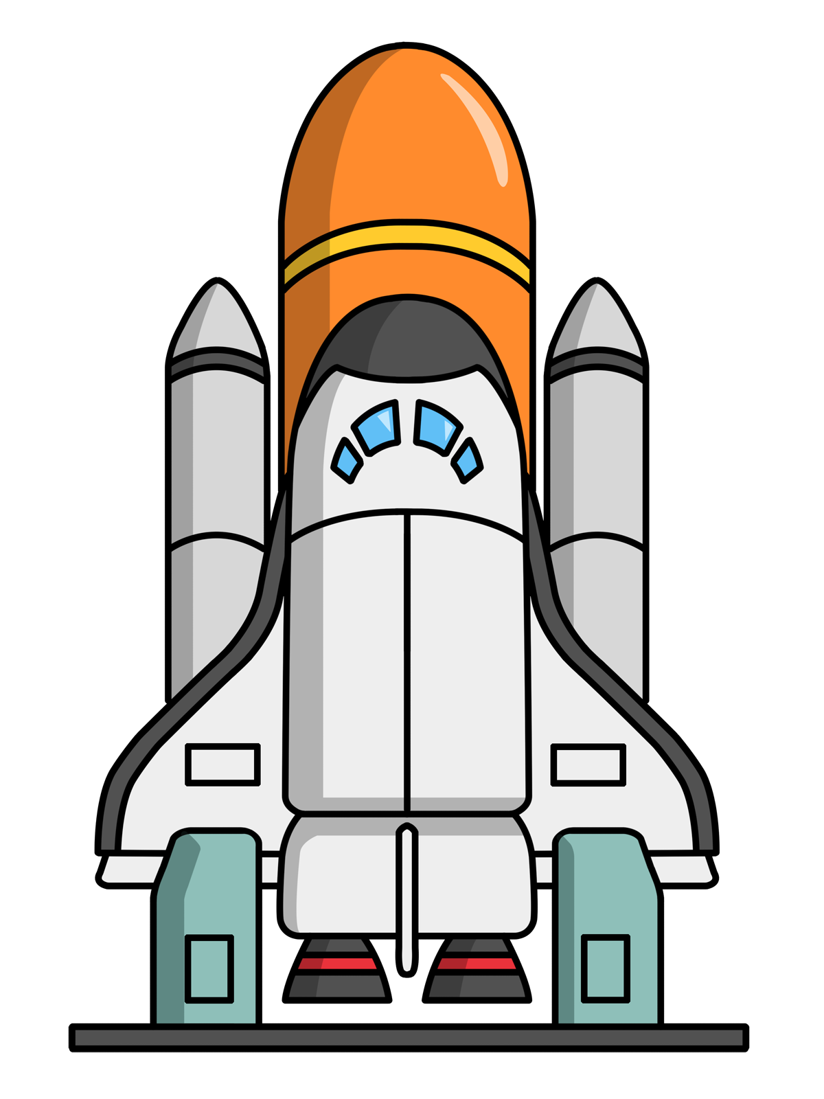 Rocket Ship Clip Art Free | Cartoon Rocketship Space Alien Pla ...