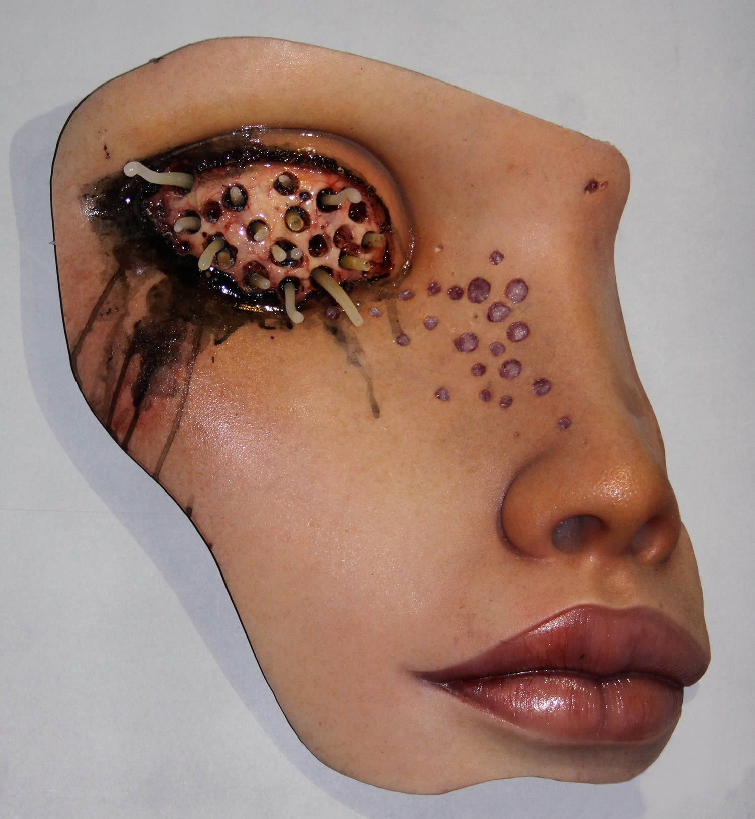 Discomfort And Beauty Dark Sculptures By Colin Christian Trypophobia Creepy Art Christian