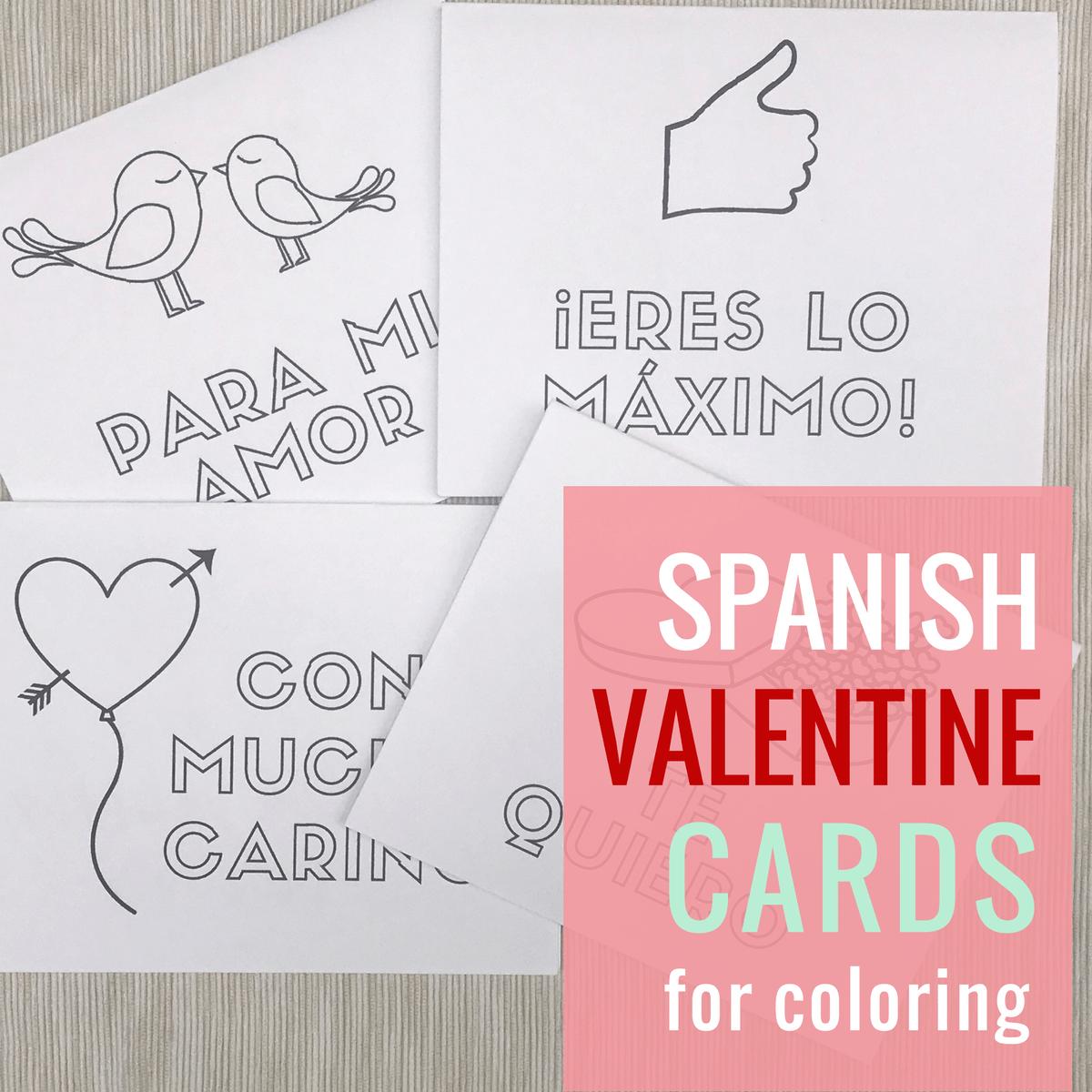 Spanish Valentine S Day Cards Free Printables For Dia Del
