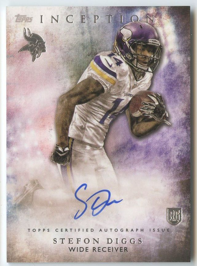 promo code ce052 f0776 stefon diggs 2015 topps inception vikings rookie auto ...