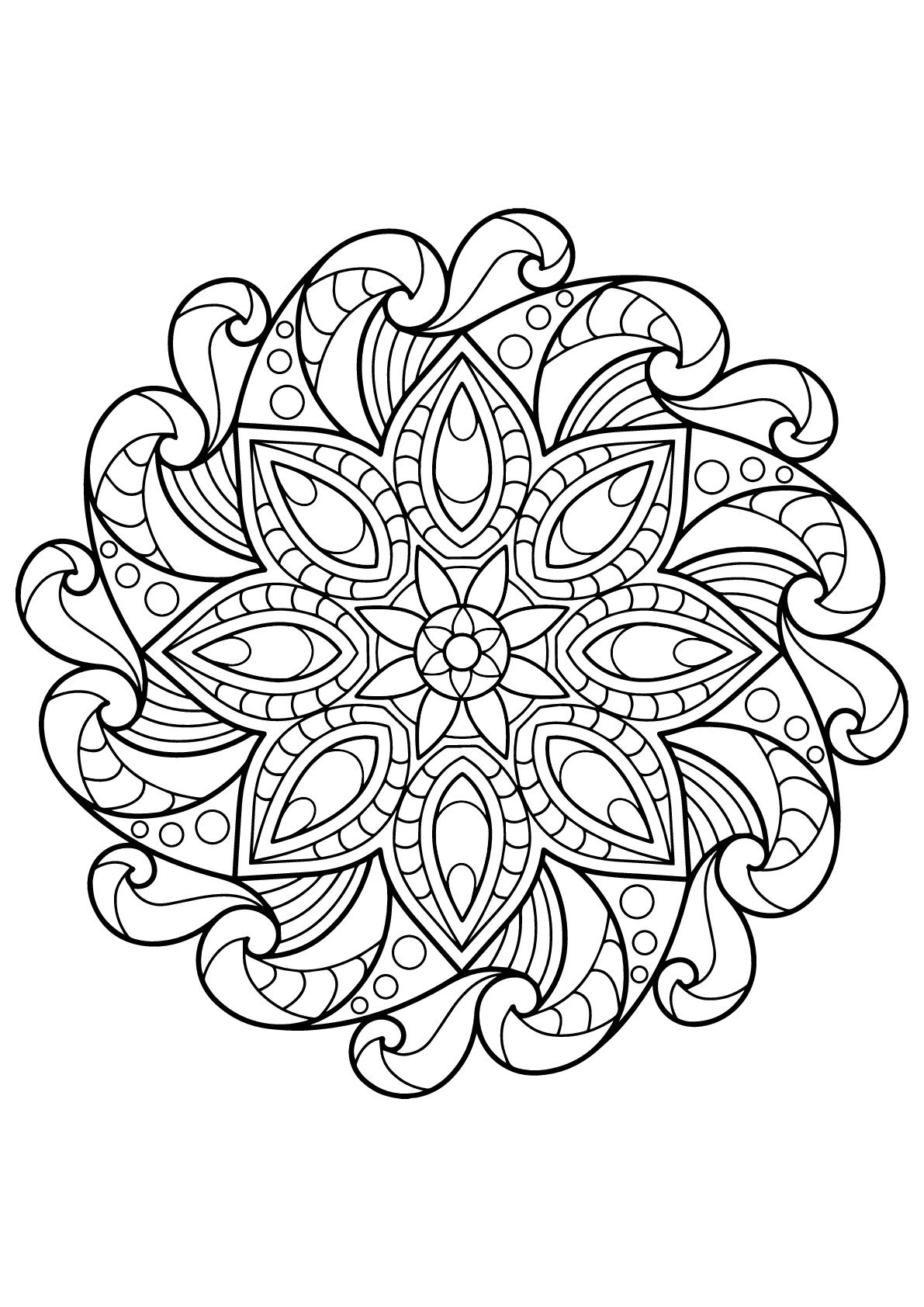Here Are Difficult Mandalas Coloring Pages For Adults To Print For Free Mandala Is A Sanskrit W Mandala Coloring Books Mandala Coloring Mandala Coloring Pages