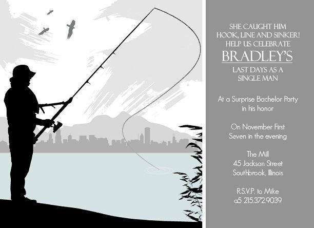 party fishing themed invitations fishing bachelor party invitation