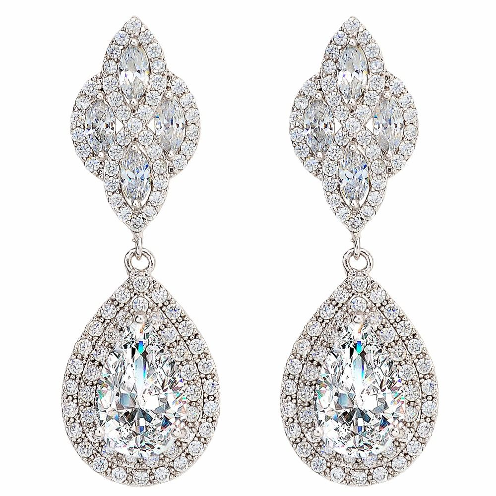 Bella fashion floral knot teardrop chandelier bridal earrings full bella fashion floral knot teardrop chandelier bridal earrings full cubic zircon dangle earrings for wedding party arubaitofo Choice Image