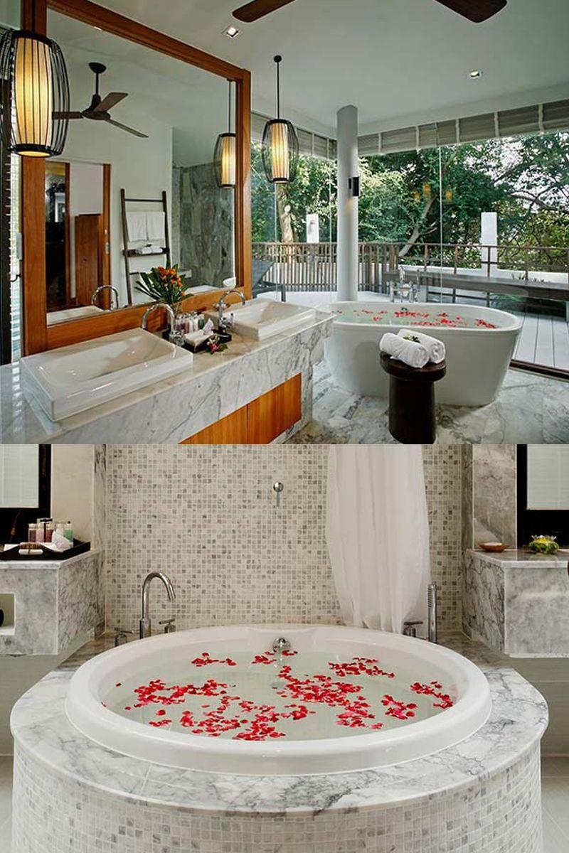 Romantic bathtub set up at Centara Villas Samui in Thailand | Travel ...