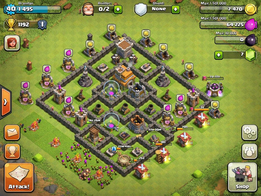 Town Hall 7 Best War Base 2 Clash Of Clans Clan Town Hall