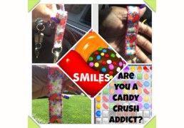 Candy Crush Key Ring Holder