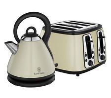 Rus Hobbs Retro Cream Kettle And Toaster Set