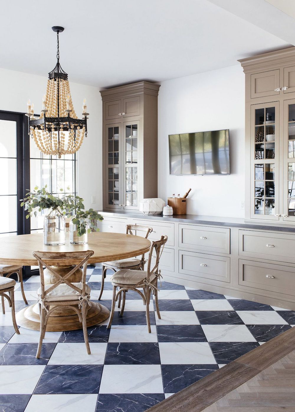 Pin On Dining Rooms White tile kitchen table