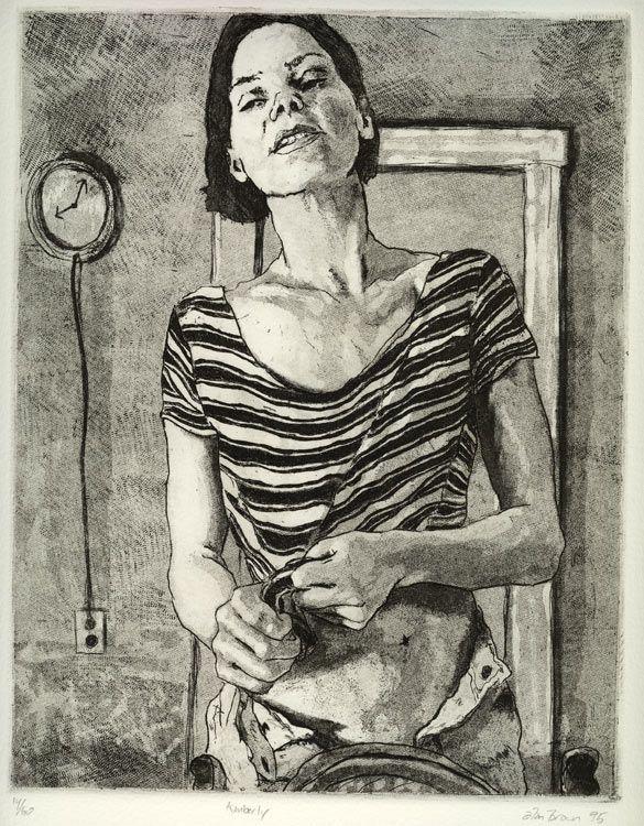 Alan Brown, etching 'Kimberly', xldesignsource.com