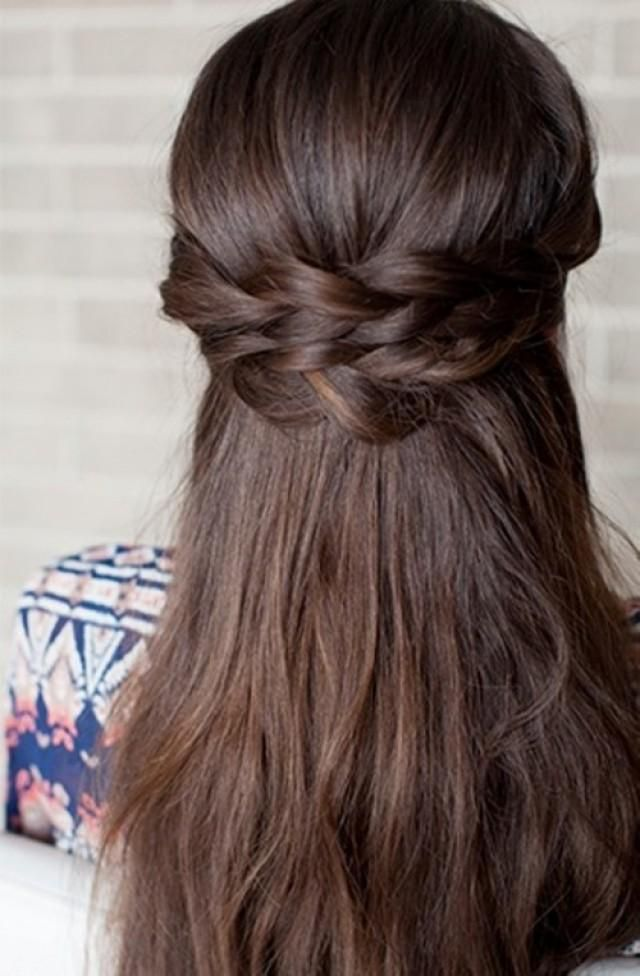 Romantic DIY Braided Half-Up Bridal Hairstyle