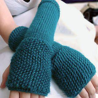 Seeded Fingerless Gloves Pattern