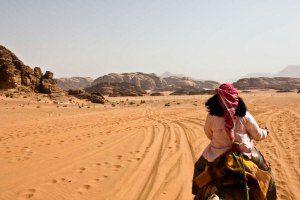 Riding a Camel through Wadi Rum Like Lawrence of Arabia #wadirum