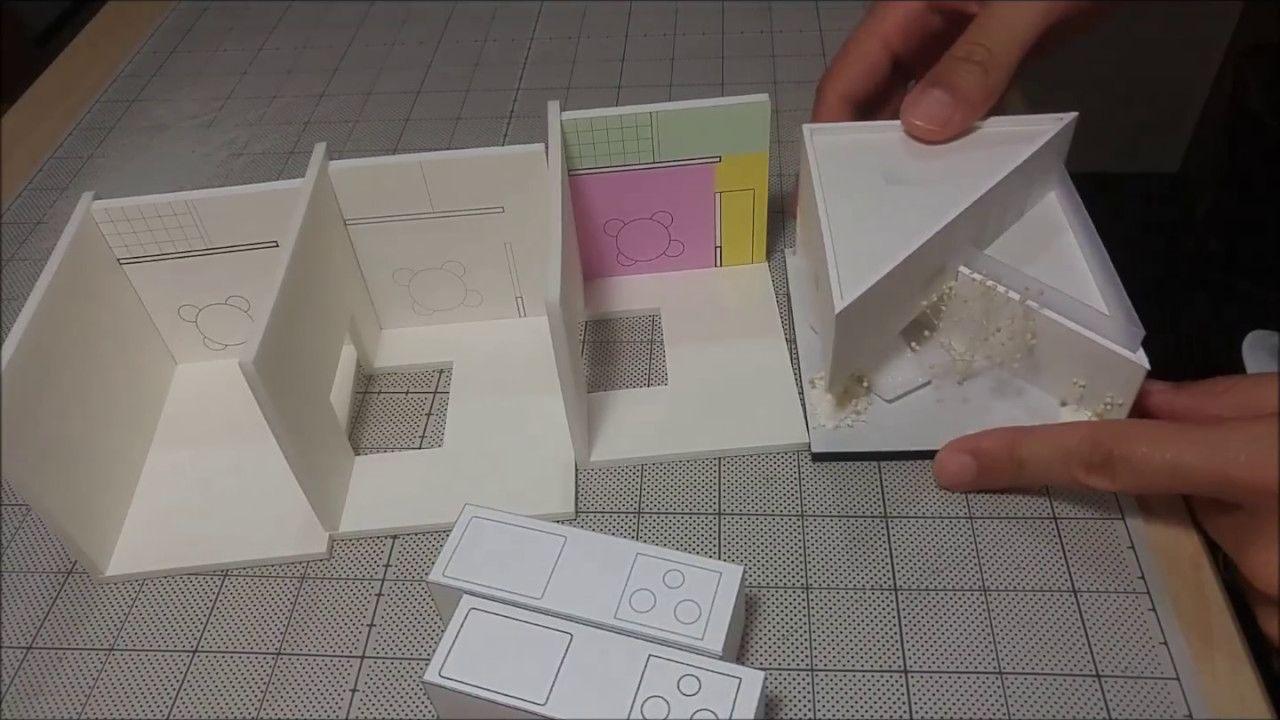白模型に貼る図面の線の色は黒ですか 建築模型の作り方 小技編