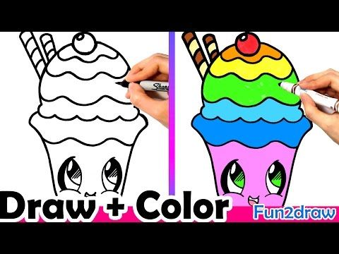 Draw color at your own pace with fun2draw apps apple https how to draw a rainbow sundae cute easy how to color colour art drawing step by step learn how to draw on tutorial thursday ccuart Images