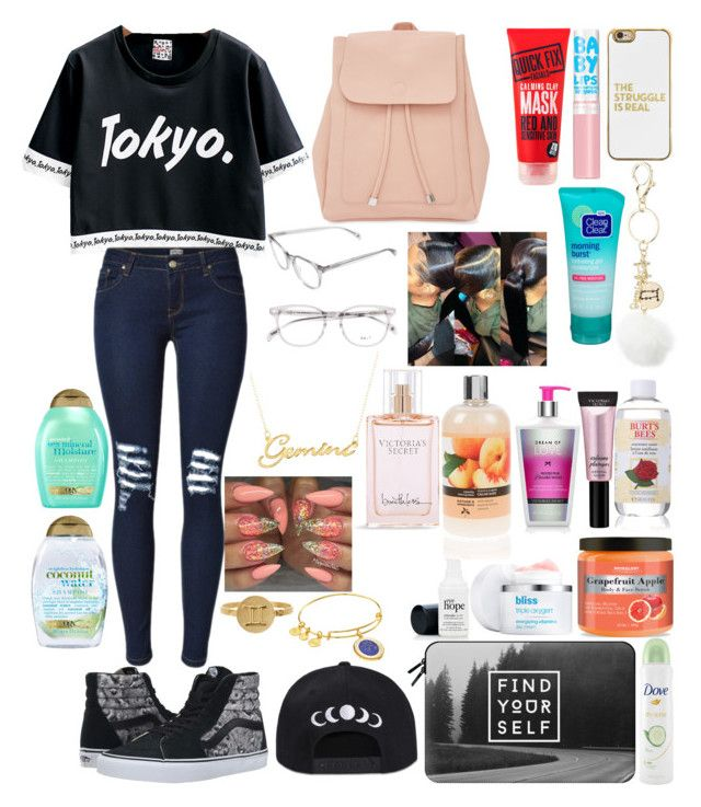 """Tokyo gemini"" by harmony-jd ❤ liked on Polyvore featuring Vans, New Look, BaubleBar, Belk & Co., Charlotte Russe, Kris Nations, Alex and Ani, Maybelline, Victoria's Secret and Casetify"