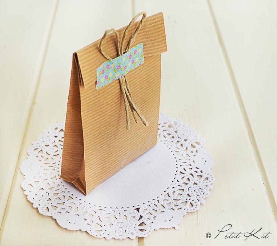 Diy c mo hacer bolsas de papel washi tape washi and scrap - Hacer bolsas de papel en casa ...