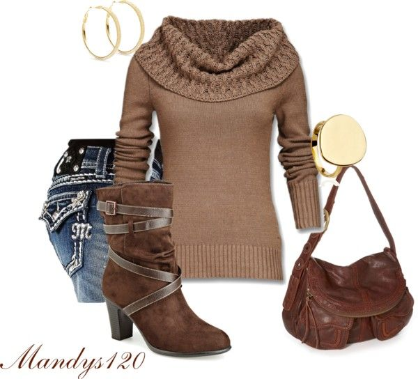 """Gold and Brown"" by mandys120 on Polyvore"