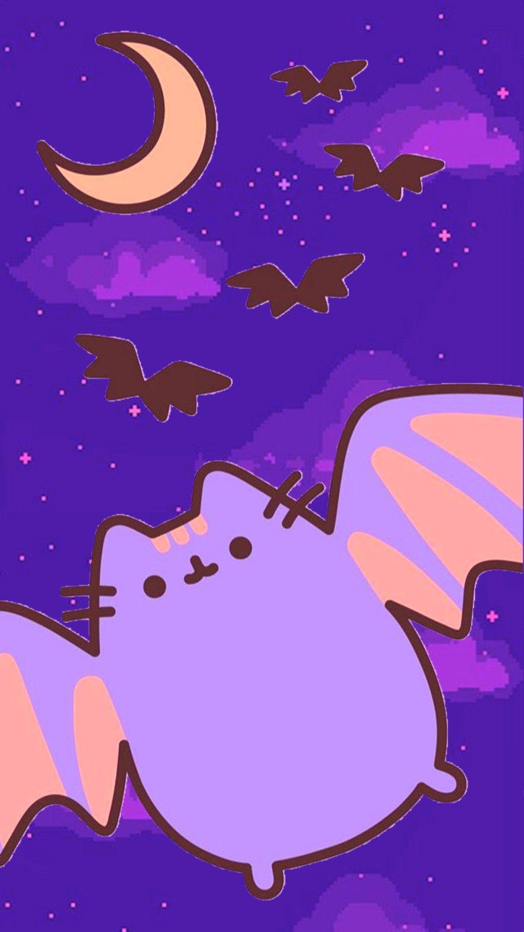 Pusheen Halloween Edit Pusheen Cute Pusheen Cat Funny Wallpaper