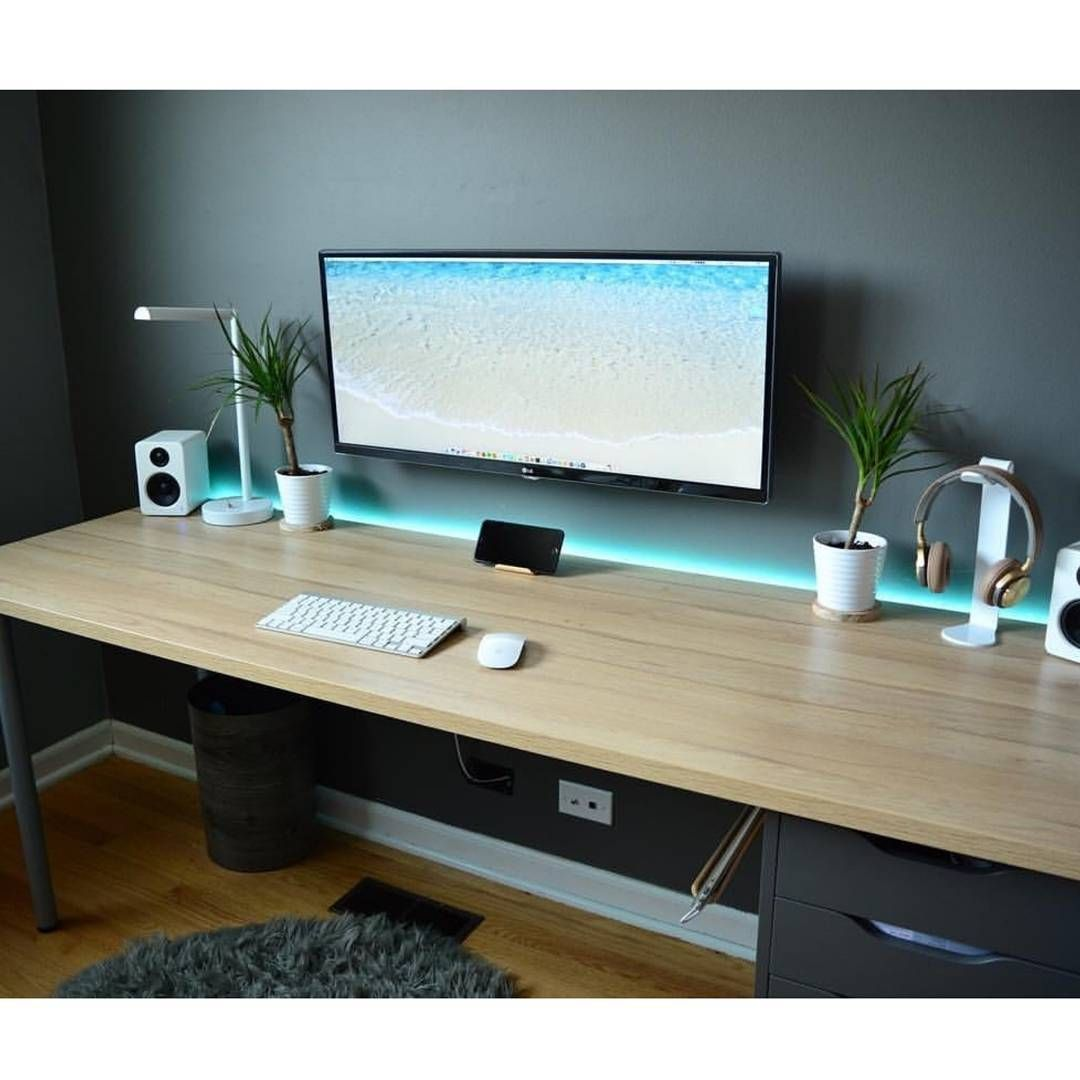 30 modern computer desk and bookcase designs ideas for - Home office setup ideas ...