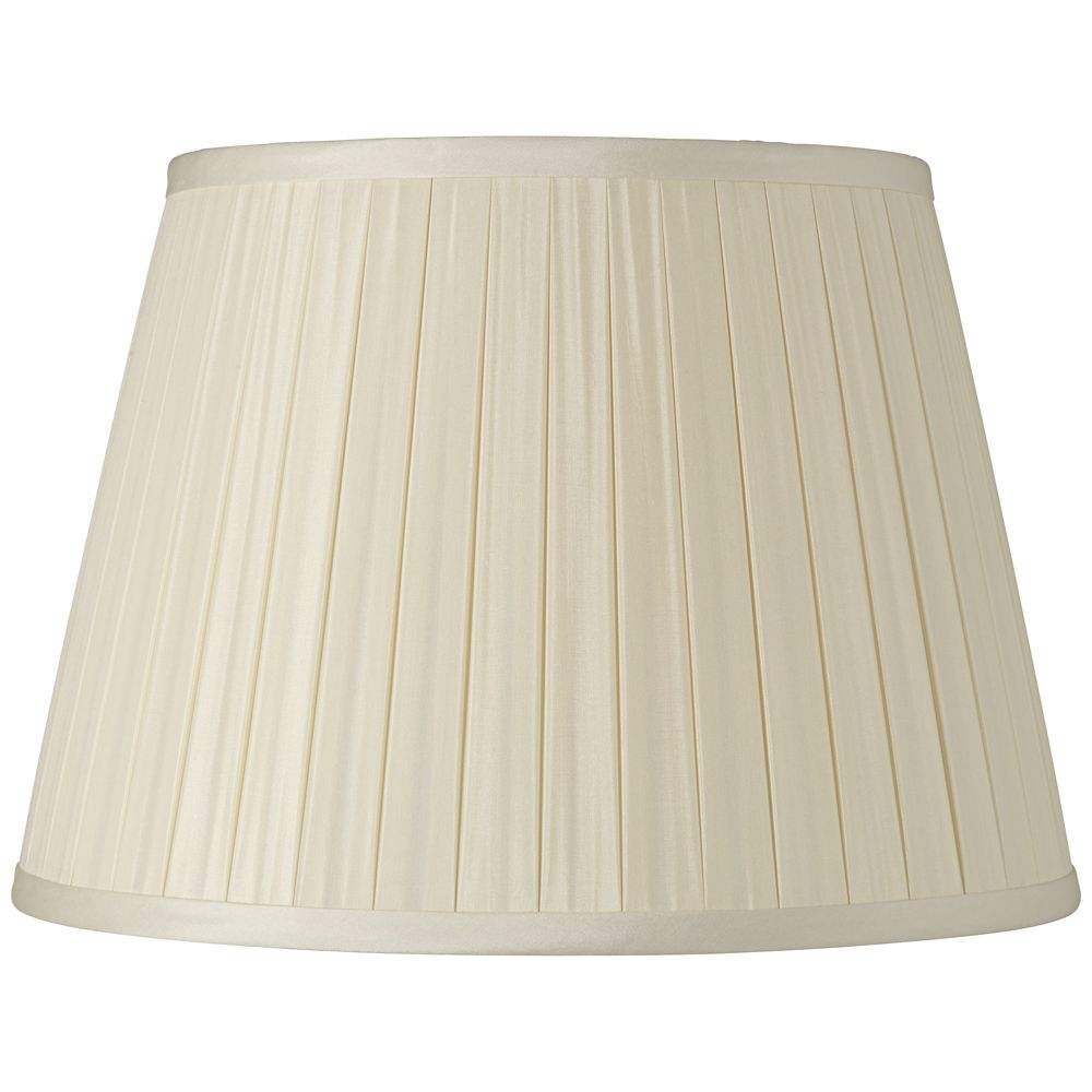 Cream Faux Silk Fabric Coolie Lampshade