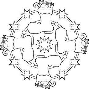 Zwei Engel Als Mandala Ausmalbild Weihnachtsmalvorlagen Weihnachtsstiefel Ausmalbilder Weihnachten