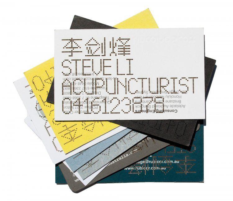 Steve Li Accupunctures creative business cards | StockLogos.com ...
