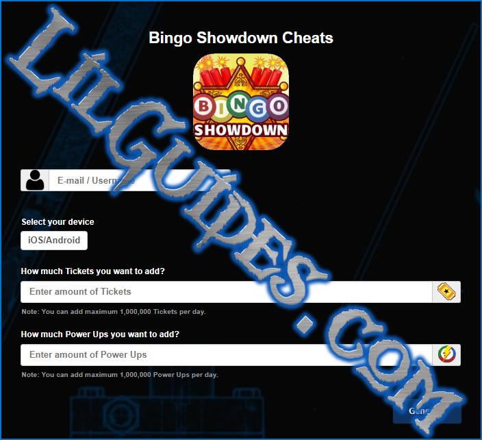 Bingo showdown help enabled