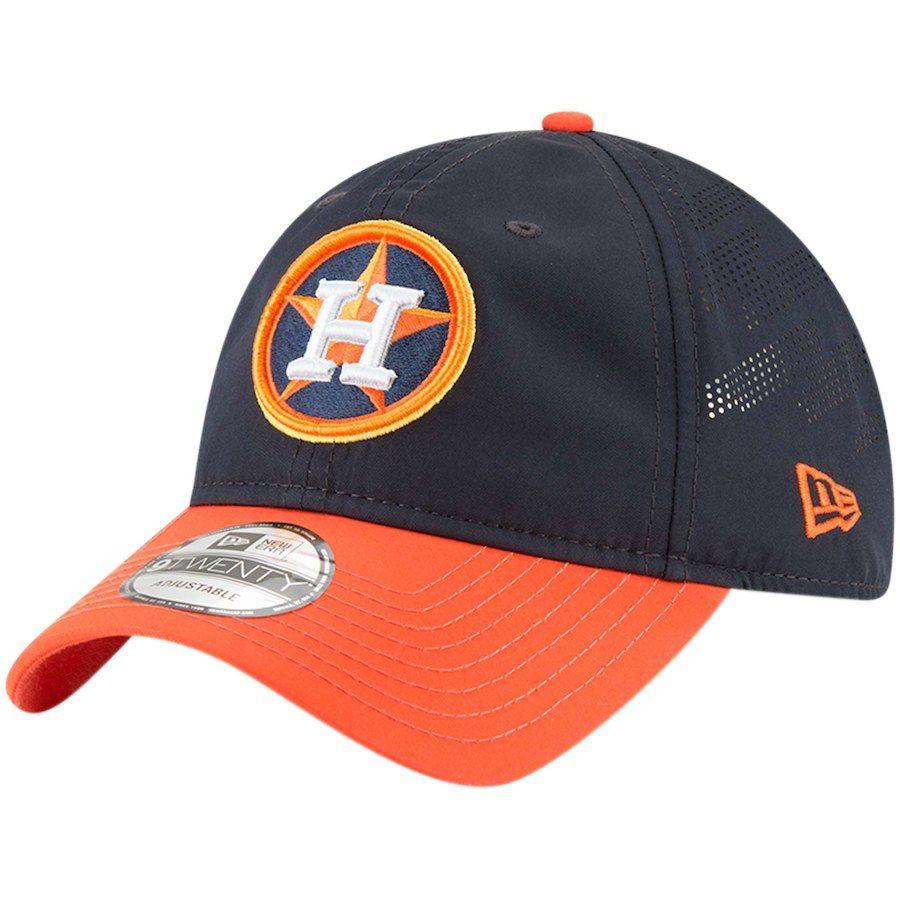 e97fc0e9341 Men s Houston Astros New Era Navy Orange Prolight Batting Practice 9TWENTY  Adjustable Hat