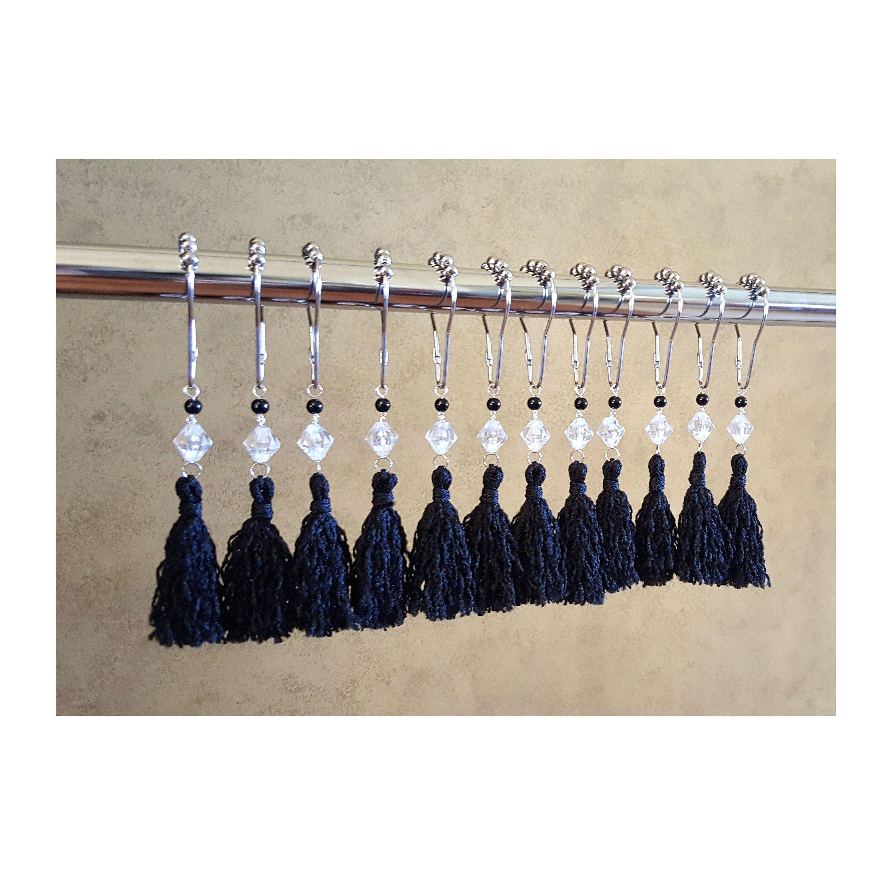 shower curtain hooks black shower curtains
