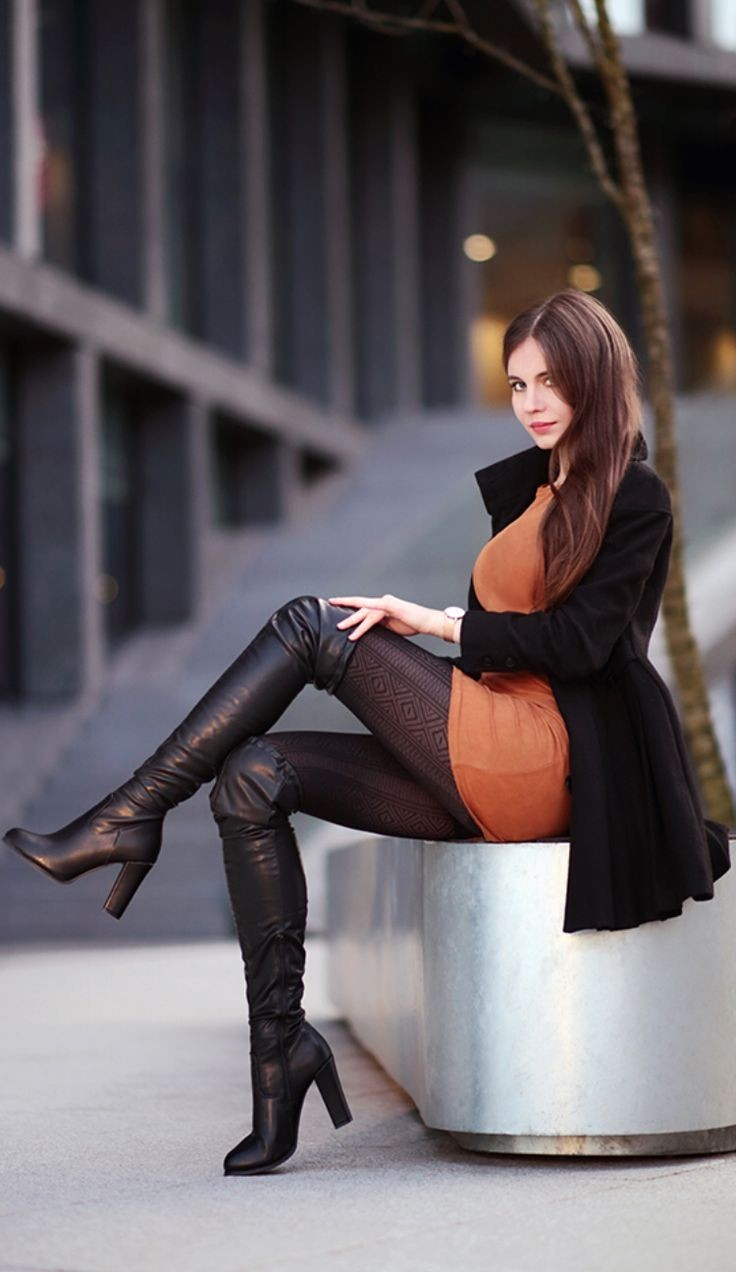 Sexy Woman Black Leather Boots And Thong Rug By Theboudoircafe