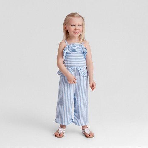 b1ab05df4909 Genuine Kids® from OshKosh Toddler Girls  Wide Leg Jumpsuit - Blue   Target