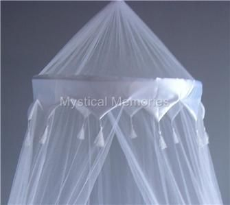 WHITE CROWN Mosquito Net Bed Canopy -Cot/SBED/DBED/QN | Bed ...