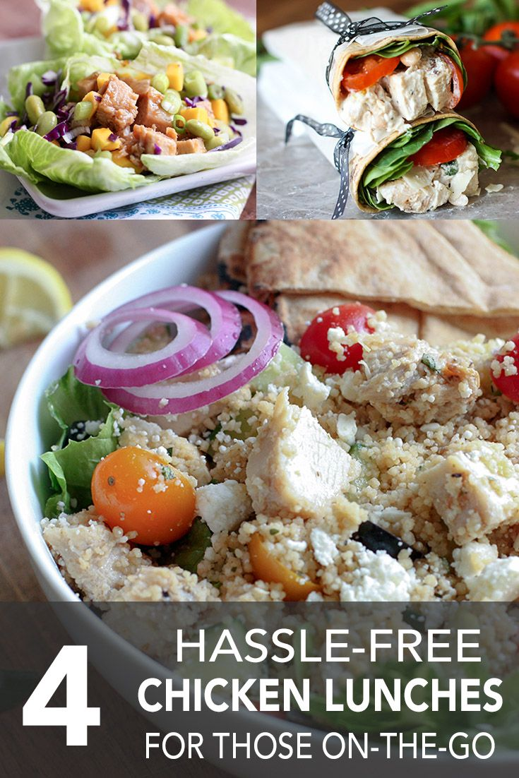 4 hassle free chicken lunches for those on the go pinterest free using precooked or leftover chicken can help you shave off prep time check out these four not so boring brown bag recipes forumfinder Image collections