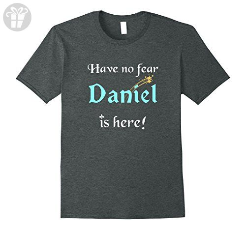 Mens Have No Fear, Daniel Is Here: Funny First Name Gifts T-Shirt Medium Dark Heather - Funny shirts (*Amazon Partner-Link)