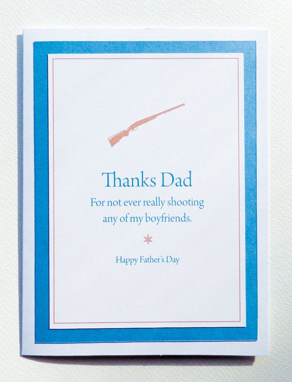 Thanks For Not Shooting My Boyfriend Funny Illustrated Fathers Day