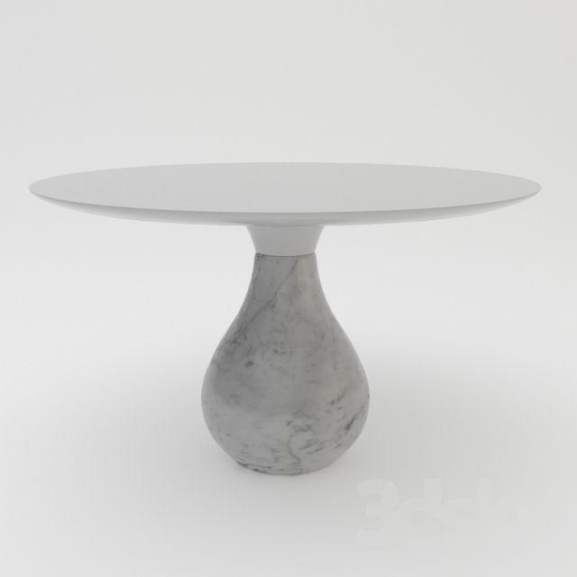 Roche Bobois Aqua Round Pedestal Table Dining Table Pedestal Table Table