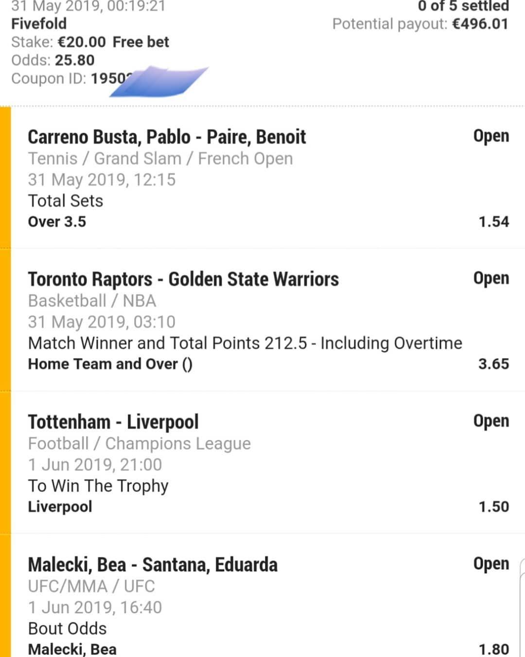 Next Night Combi Bet Goodluck All Betting Bet Bettingtips