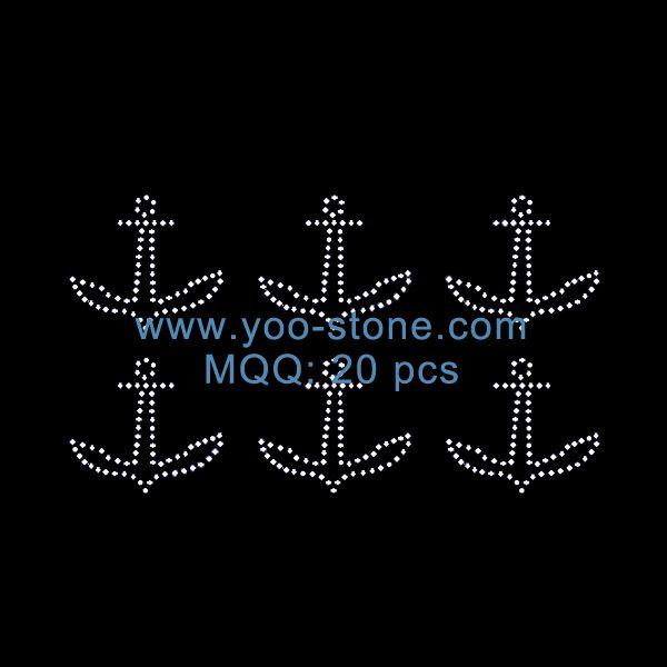Latest Design Anchor MINI Rhinestone Iron On Transfer  514909190146