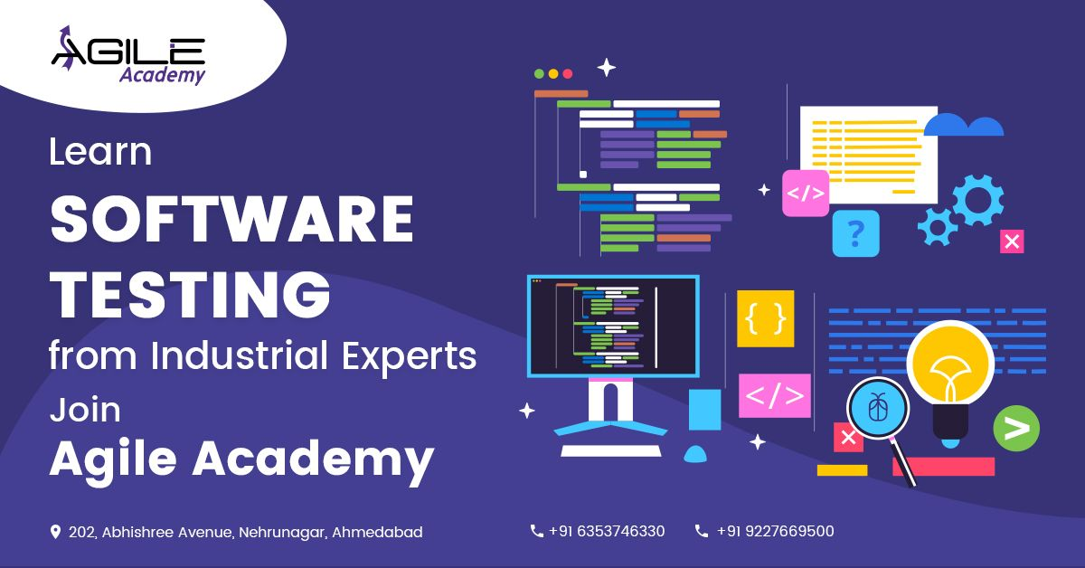 Want To Learn Software Testing And Software Development Course With Quality Join Agile Academy Certified Co Software Testing Web Design Course Software