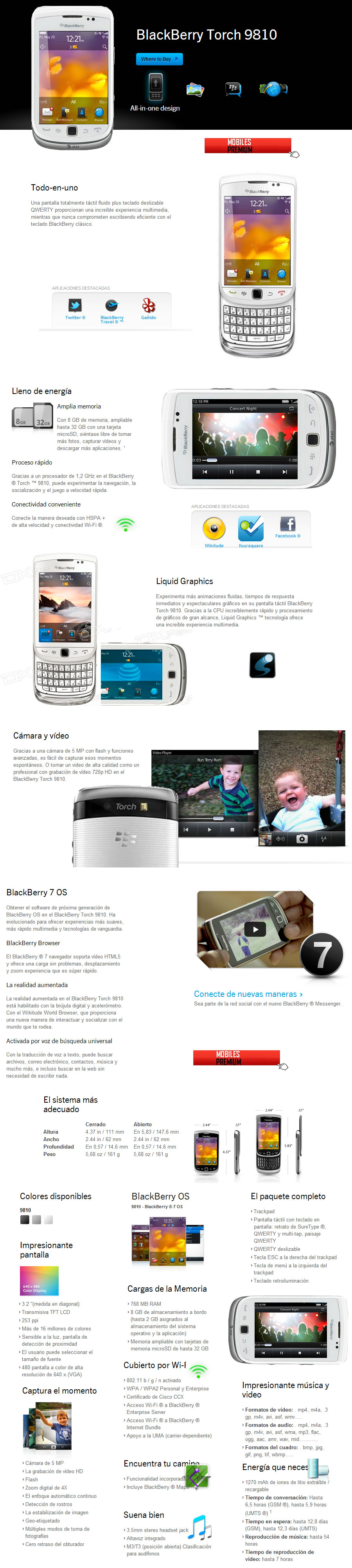 Comprar celular blackberry torch 9810 blanco | venta de blackberry torch 9810 Argentina