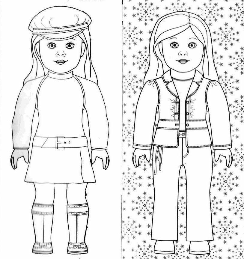 american girl coloring pages 01 | January in the Studio | Pinterest