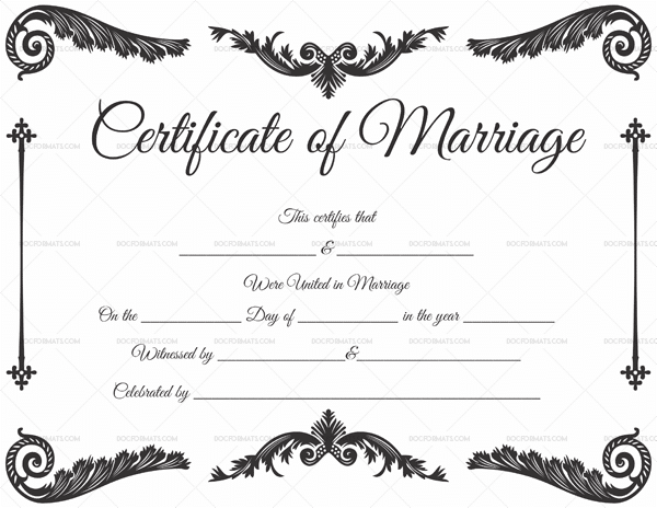 Customize 320 Marriage Certificate Templates In Word Pdf Format Marriage Certificate Wedding Certificate Certificate Templates