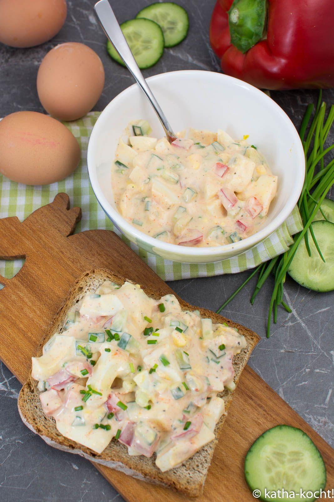 Eiersalat selber machen - die leichte Variante mit Joghurt - Katha-kocht! #potatosalad